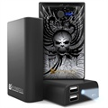 Beyond Cell Universal Dual USB Power Bank - Wing Skull / Black