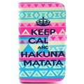 Samsung Galaxy Fame S6810 Wallet Leather Case - Hakuna Matata