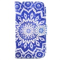 Samsung Galaxy Core I8260, I8262  Wallet Leather Case - Mandala