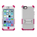 iPhone 5C Beyond Cell Tri Shield Hybrid Case - White / Hot Pink