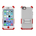 iPhone 5C Beyond Cell Tri Shield Hybrid Case - White / Red